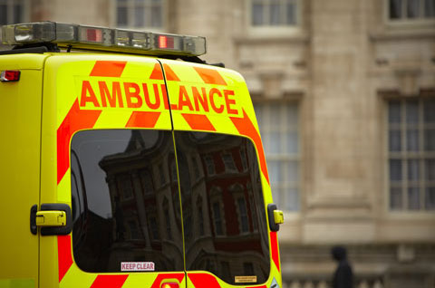 Ambulance in the UK covered by medical malpractice insurance